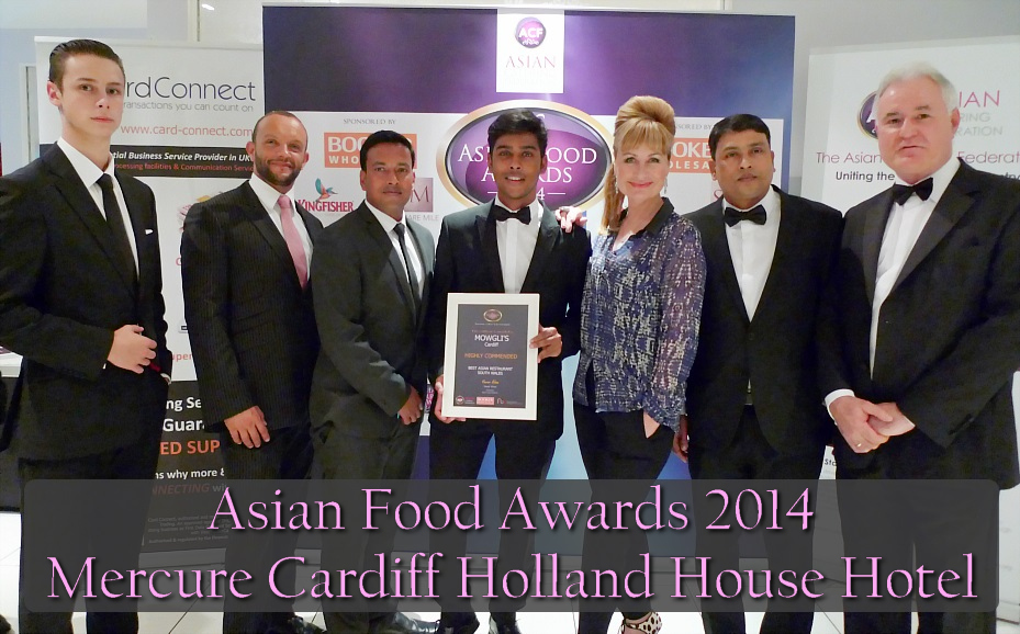Asian Food Awards 2014 Mercure Cardiff Holland House Hotel