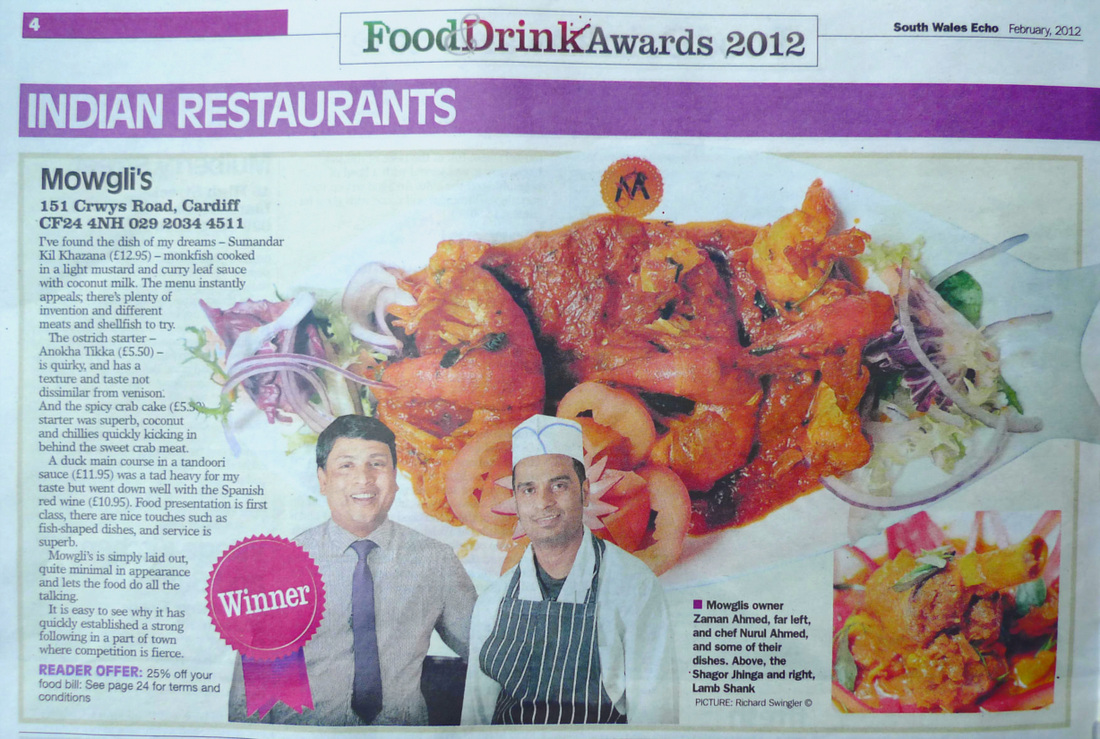 Winner of Echo Food and Drink Awards